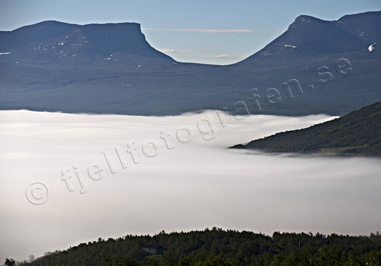 alpine, bank of mist, bjorkliden, fog, landscapes, Lapland, Lapporten, mountain, mountains, summer