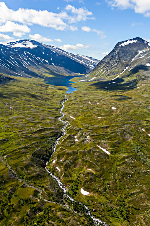 aerial photo, aerial pictures, drone aerial, landscapes, Lapland, Livamjaure, Livamvagge, summer, Suorrekaise