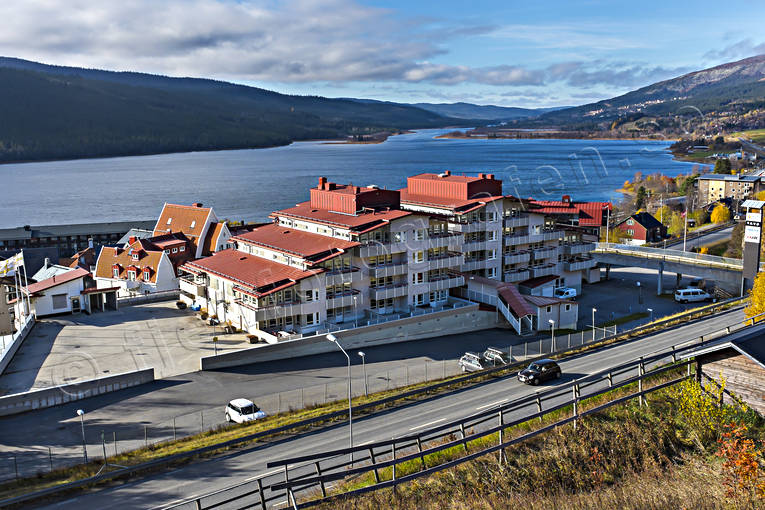 Are, Are lake, autumn, buildings, engineering projects, installations, Jamtland, MItt i Åre, Åreby