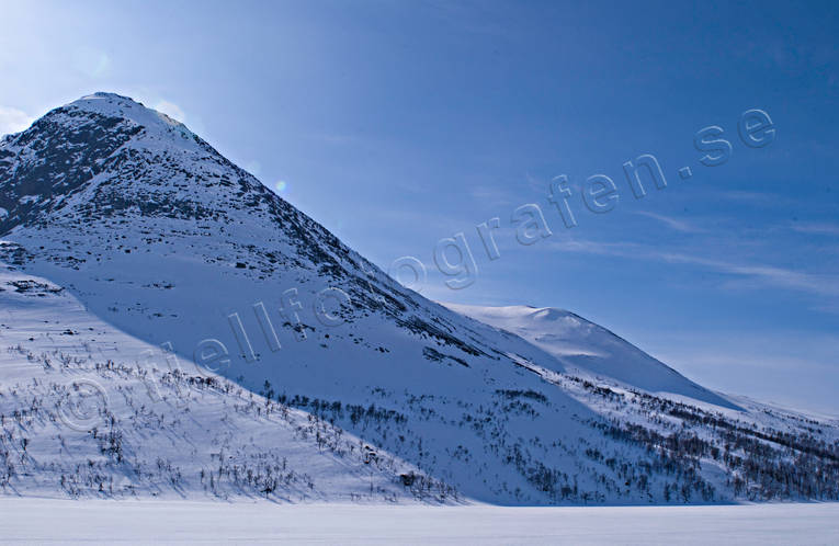 Friningen, Jamtland, landscapes, mountain, mountain top, Sielkentjahke, winter