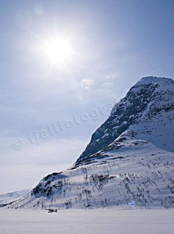 backlight, Friningen, Jamtland, landscapes, mountain, mountain top, Sielkentjahke, winter