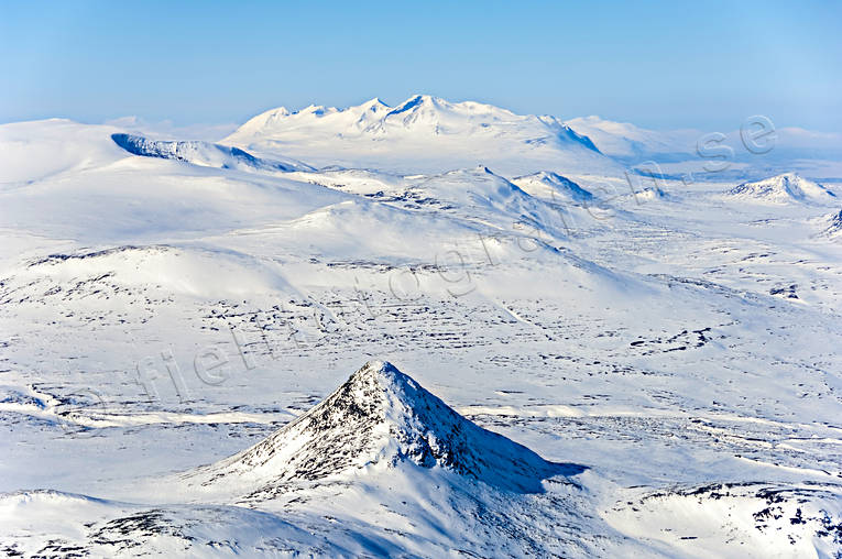 aerial photo, aerial pictures, Akka, Akka massif, drone aerial, holy, landscapes, Lapland, mountain, mountain pictures, mountain top, national park, sami culture, Sjöfallets, Slugga, winter