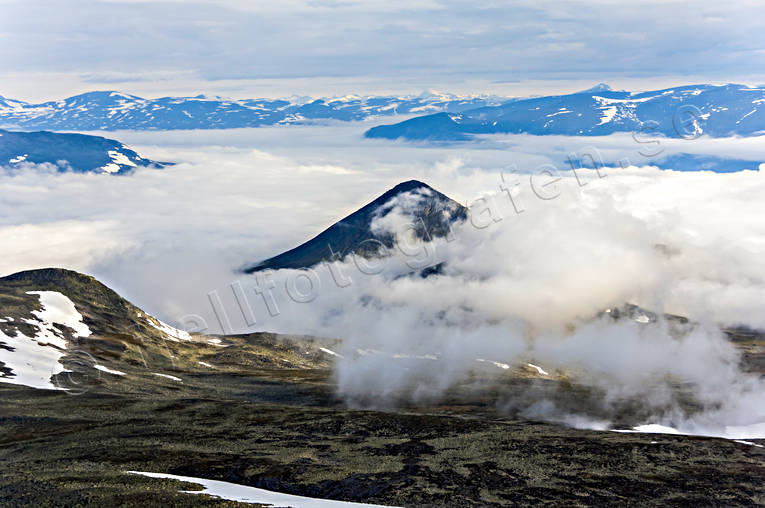 aerial photo, aerial pictures, cloud, drone aerial, holy, landscapes, Lapland, mountain, mountain pictures, mountain top, Slugga, summer
