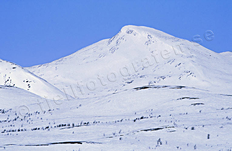 Darneke, landscapes, Lapland, mountain, mountain range, winter