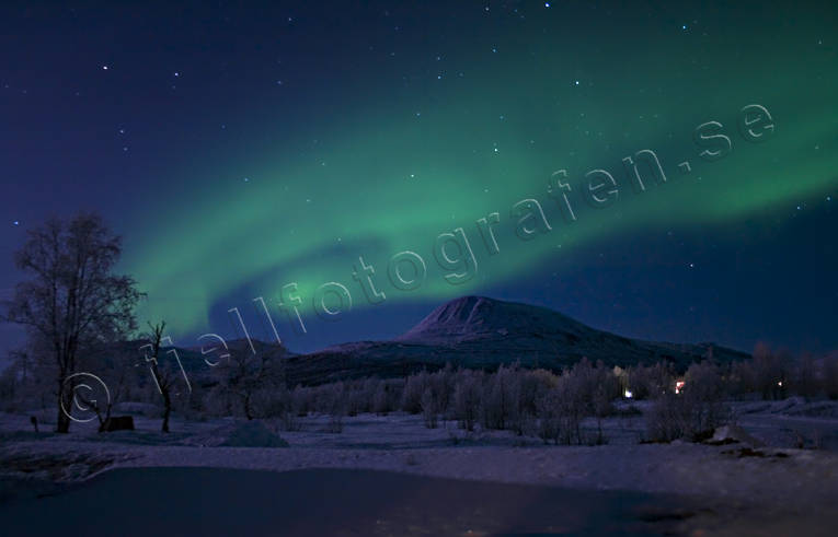 nature, Nikkaluokta, northern lights, polar lights, polar night, sky, winter
