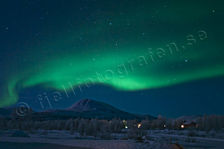 atmosphere, Lapland, mid-winter, nature, northern lights, polar night, sky