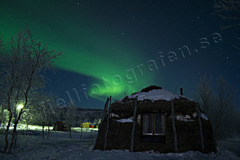 nature, northern lights, peat teepee, polar lights, polar night, sky, teepee, winter