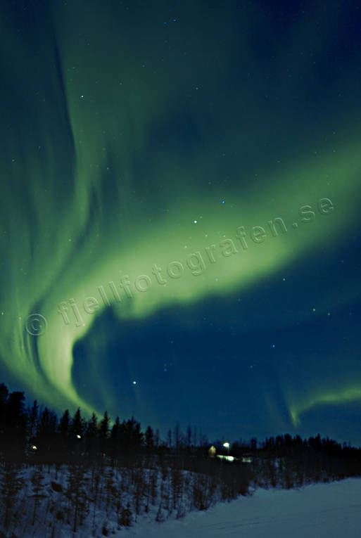 Kalix river, nature, northern lights, sky