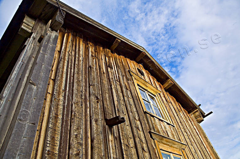 boards, brädfodrad, buildings, hembygdsmuseum, house, Lapland, old, timber hut, timbered, wall