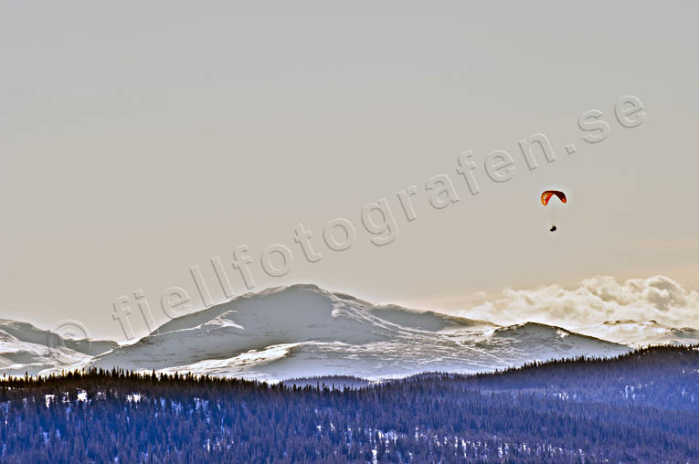 Jamtland, landscapes, mountain, paragliding, screen, sport, Storsnasen, various, winter, äventyr