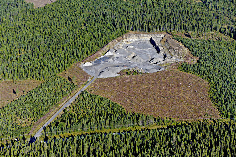 aerial photo, aerial photo, aerial photos, aerial photos, crushed rock, drone aerial, drönarfoto, environment, gravel-pit, grustäkt, installations, Jamtland, landscapes, quarry, summer, work