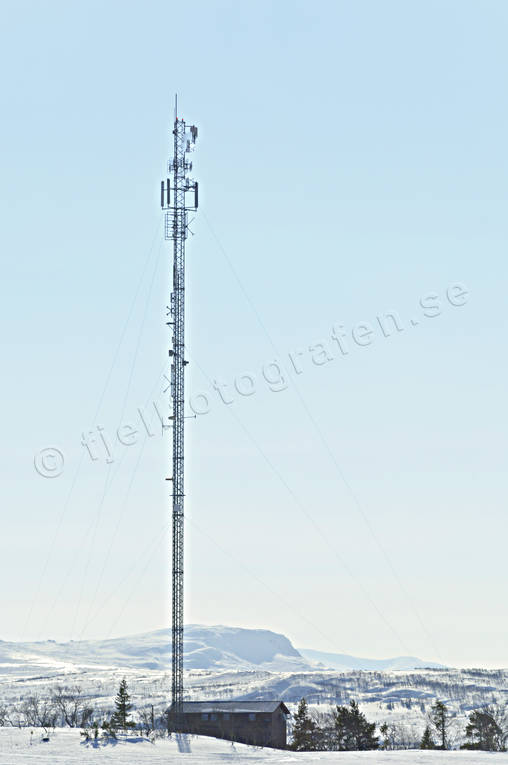 communications, Jamtland, landscapes, mast, mobilmast, radio mast, Visjövalen, winter