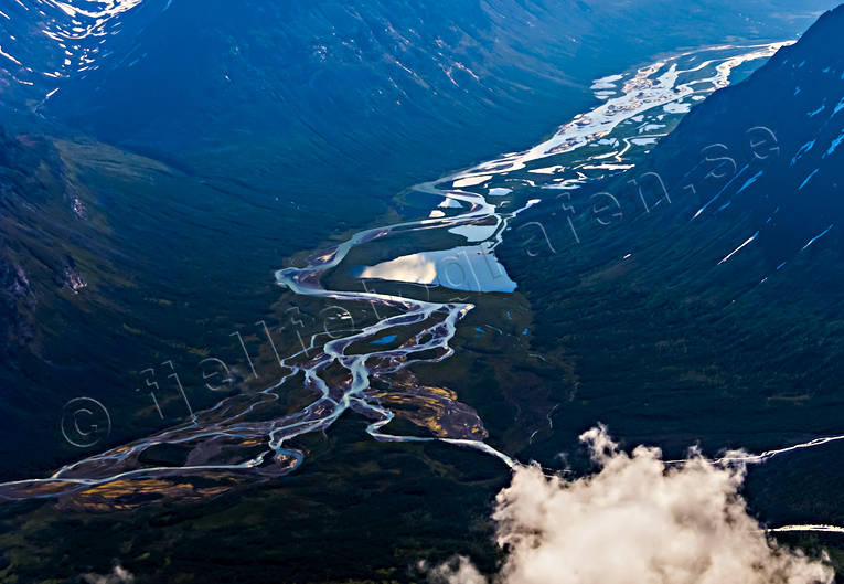 aerial photo, aerial pictures, drone aerial, landscapes, Lapland, Rapa Valley, Rapaätno, Stuolovagge, summer
