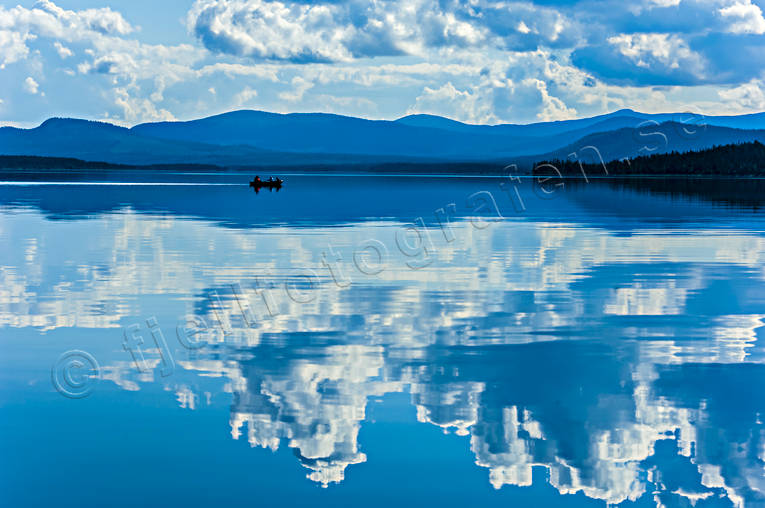 boat, landscapes, Lapland, rowing-boat, Saggat, summer