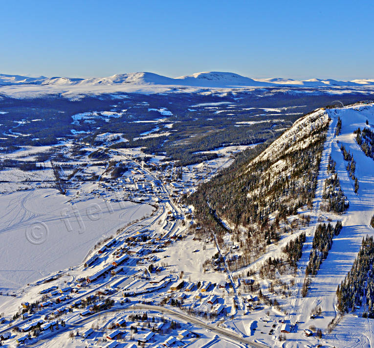 aerial photo, aerial pictures, drone aerial, Funasdalen, Funasdalsberget, Herjedalen, journeys down, landscapes, samhällen, ski slopes, Swedish Mountains, winter