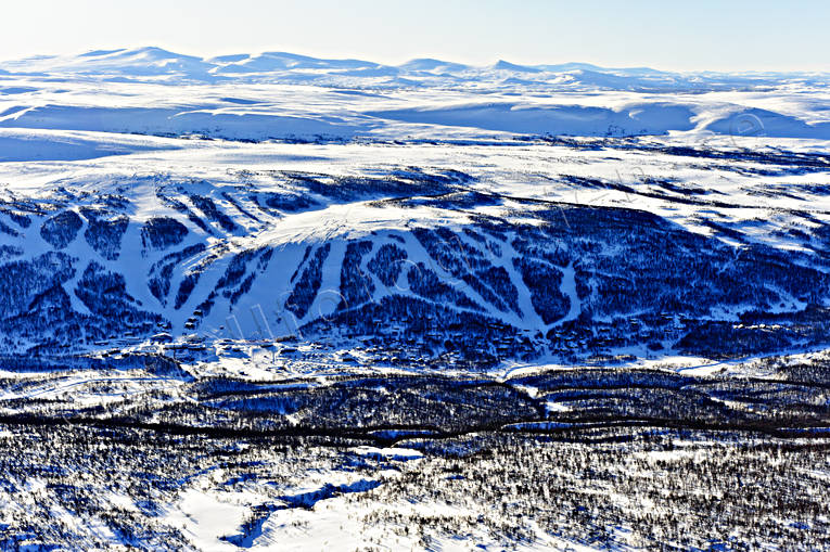 aerial photo, aerial photo, aerial photos, aerial photos, drone aerial, drönarfoto, Herjedalen, journeys down, landscapes, Ramundberget, samhällen, ski slopes, winter