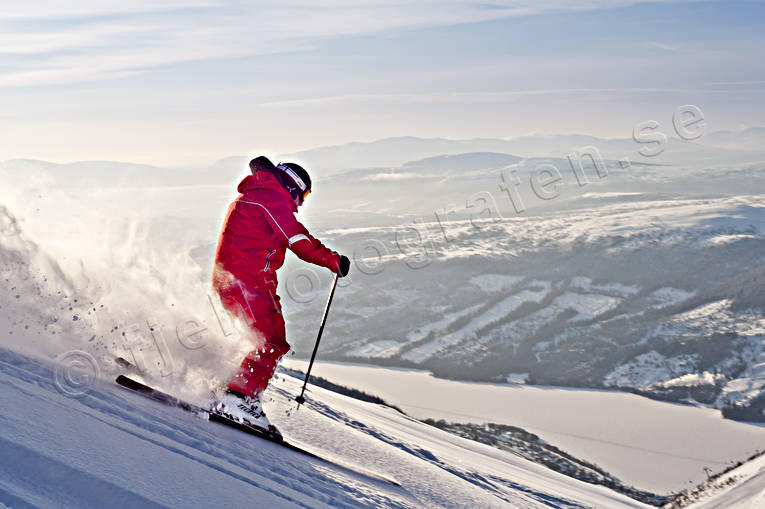 Are, Are lake, Are valley, down-hill running, fresh snow, Jamtland, loose snow, offpist, playtime, skier, sport, winter, äventyr