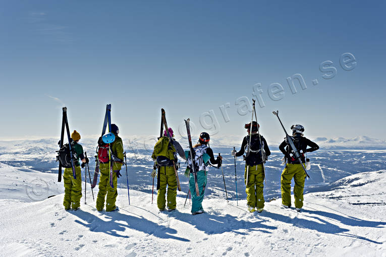 Areskutan, down-hill running, offpist, playtime, skier, skies, skiing, sport, winter, äventyr
