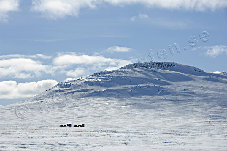 Door lake, Jamtland, landscapes, mountain, snowmobile, snowmobile, winter