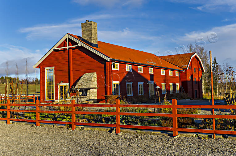 buildings, engineering projects, farms, Faviken, house, installations, Jamtland, red, stall, timbered