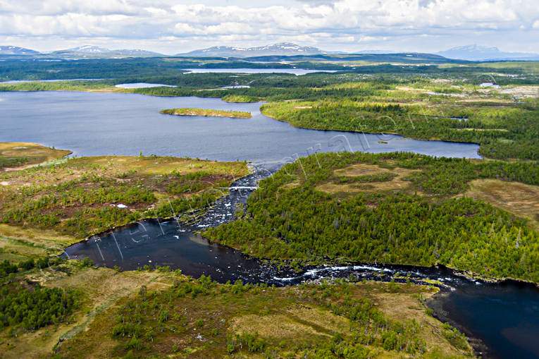 aerial photo, aerial pictures, angling, drone aerial, fishing spots, Jamtland, Storån, summer, watercourse