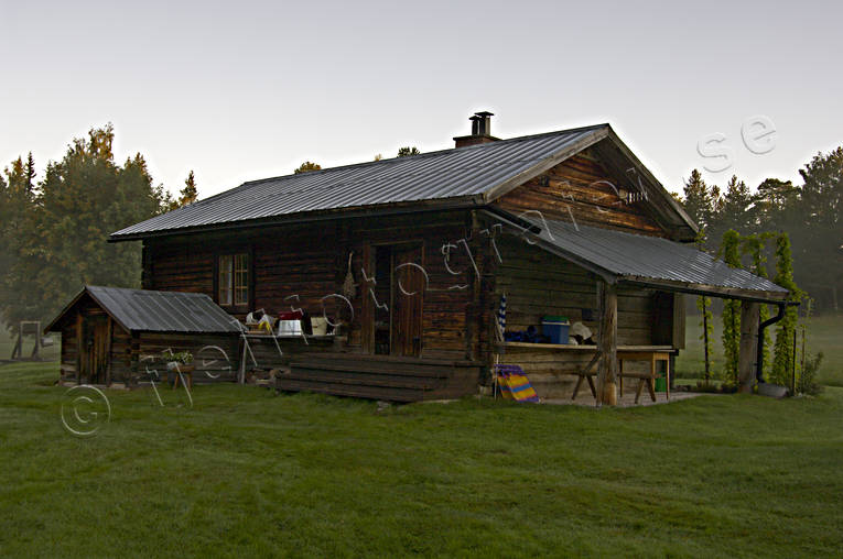 cabins, dawn, Herjedalen, house, morning, ojingsvallen, summer cottage, summer cottage, summer farm pasture, timbered, timbered