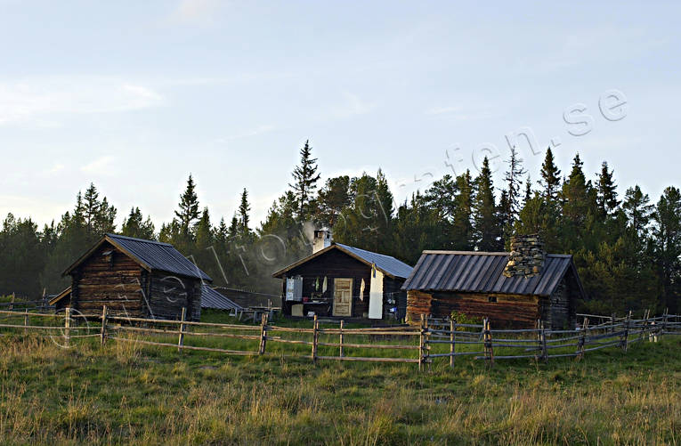 cabins, cabins, hill farms, mountain farms, Jamtland, mountain farm, summer cottage, summer farm pasture, Östra Galåbodarna