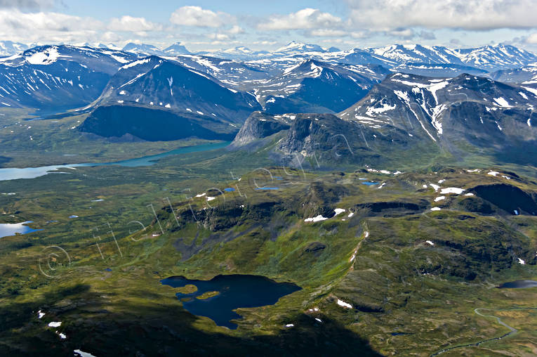 aerial photo, aerial pictures, drone aerial, Kaitumjaure, landscapes, Lapland, Manakjaure, summer, Suorrekaise