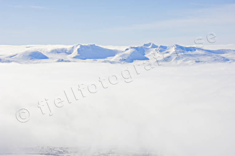 aerial photo, aerial pictures, cloud, drone aerial, Jamtland, landscapes, mountain, sylarna, winter