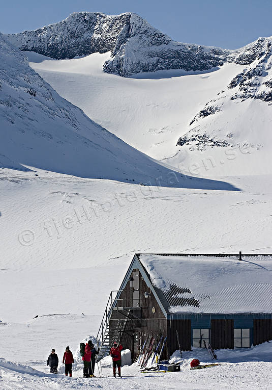 alpine station, buildings, engineering projects, Jamtland, mountain, mountain tourists, sylarna, Syltoppen, tourism, winter