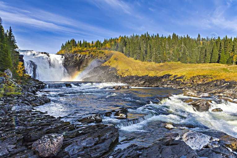 attractions, autumn, autumn colours, autumn leaves, Jamtland, landscapes, stream, tannforsen, vatten, water fall, watercourse