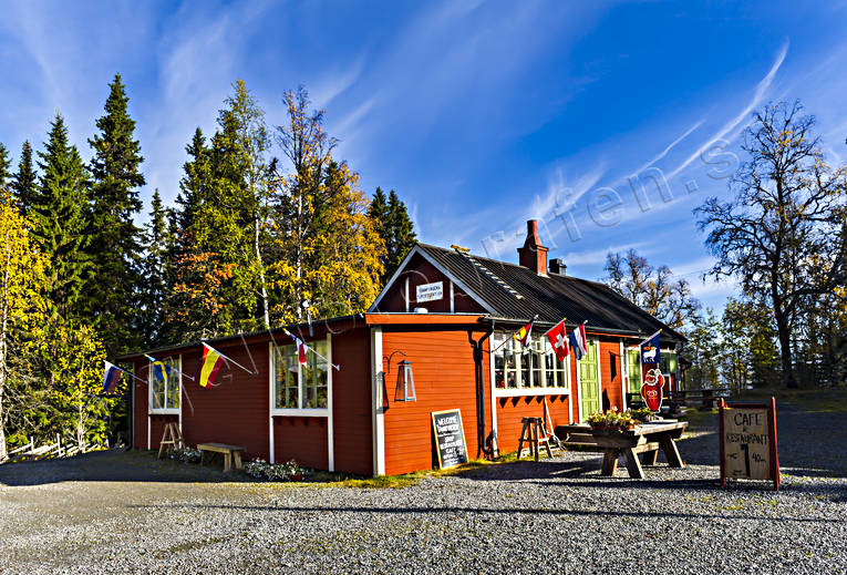 attractions, buildings, cafe, house, installations, Jamtland, restaturang, tannforsen, tourist station, water fall
