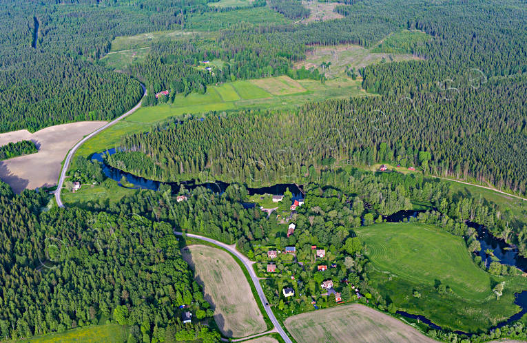 aerial photo, aerial pictures, drone aerial, Lagerfors, landscapes, summer, Tidan, Västergötland