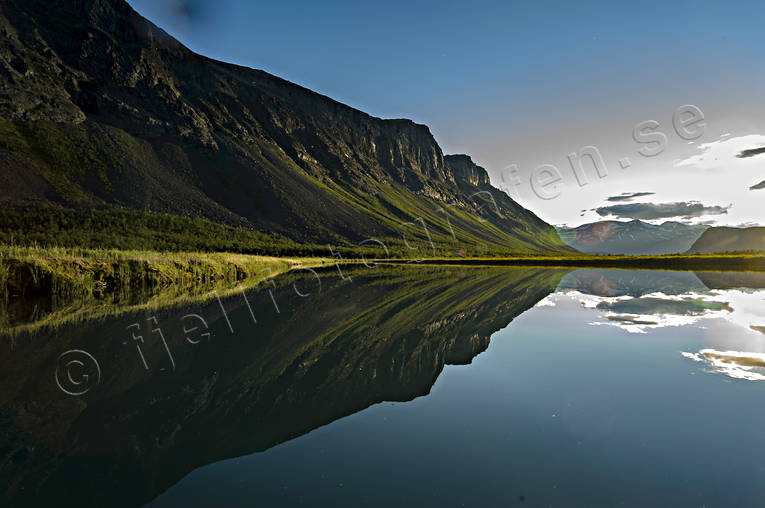 landscapes, Lapland, mountain, mountain slope, national park, Rapa Valley, Sarek, summer, summer night, Tjahkelij