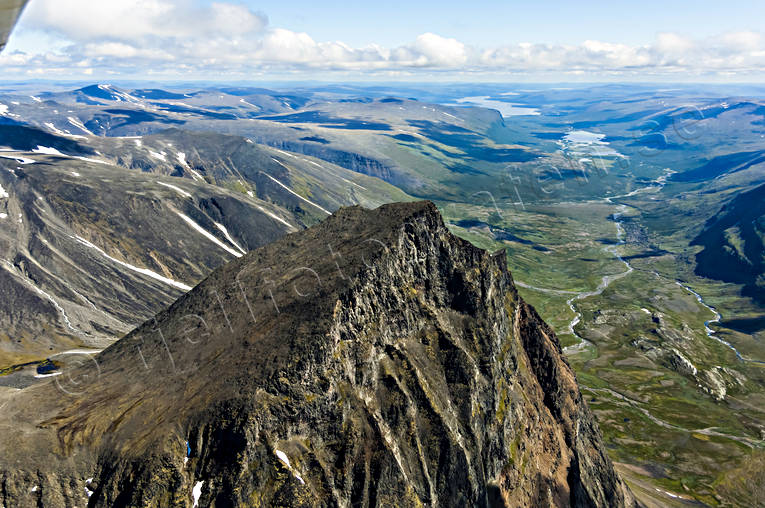 aerial photos, aerial picture, aerial pictures, flygbilder, Kebnekaise, Ladtjovagge, landscapes, Lapland, summer, Tolpagorni