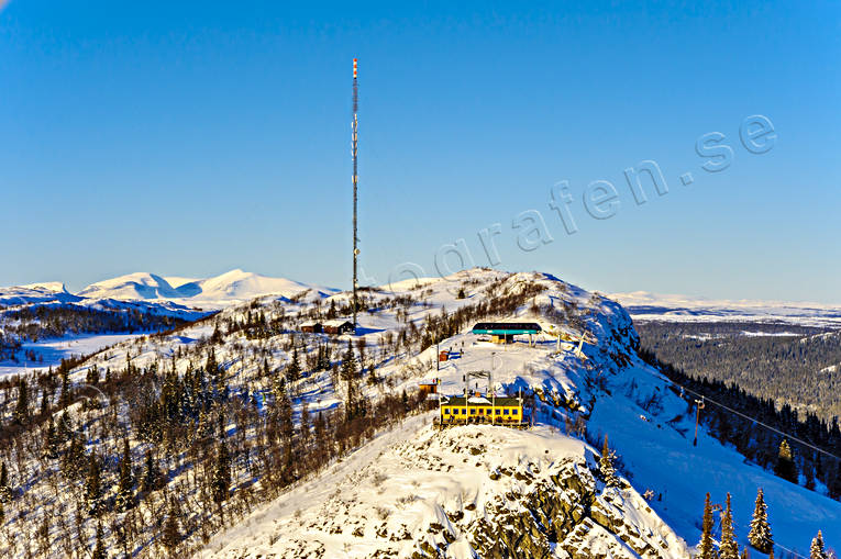 aerial photo, aerial pictures, drone aerial, fjällbilder, Funasdalen, Funasdalsberget, Helags, Herjedalen, landscapes, mast, radio mast, samhällen, Swedish Mountains, top cottage, winter