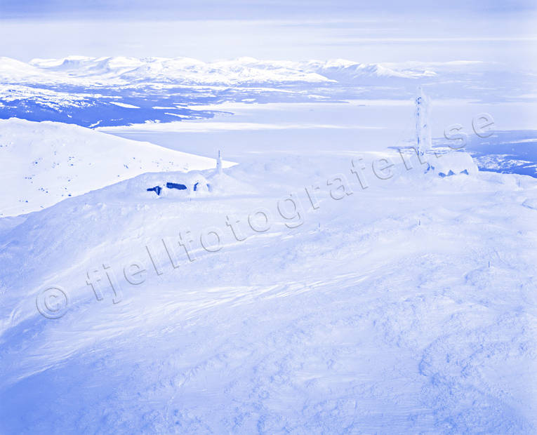 aerial photo, aerial pictures, Areskutan, drone aerial, Jamtland, landscapes, mountain, top summit, winter