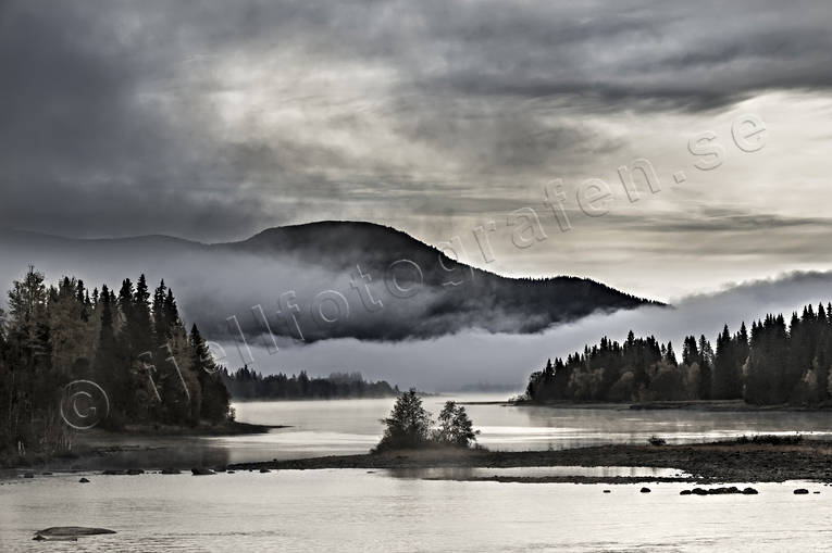 autumn, cloud, fog, Indal river, Jamtland, landscapes, morning mist, Tegefors, Totthummeln, watercourse