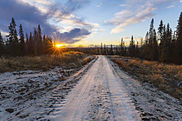 autumn, desolated, husåvägen, Jamtland, landscapes, road, sunrise, traktorväg, winter