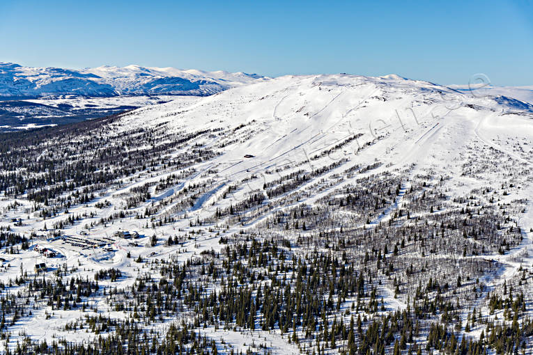 aerial photo, aerial pictures, drone aerial, installations, Jamtland, journeys down, landscapes, ski resort, ski resort, ski slopes, Trillevallen, winter