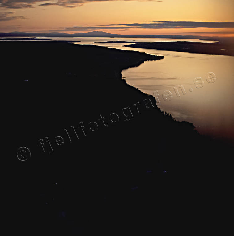 aerial photo, aerial photo, aerial photos, aerial photos, Areskutan, drone aerial, drönarfoto, evening light, Jamtland, landscapes, Marieby, summer, sunset, Vallsundet