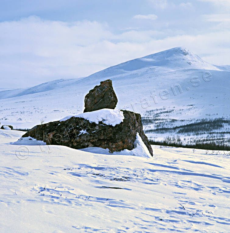 landscapes, Lapland, mountain, Vardofjallen, winter
