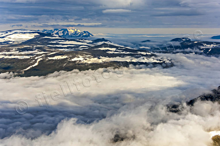 aerial photo, aerial pictures, Akka massif, cloud, drone aerial, landscapes, Lapland, summer