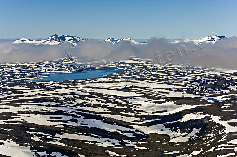 aerial photo, aerial pictures, cloud, drone aerial, fog clouds, landscapes, Lapland, Laponia, mountain spaces, mountains, national park, Padjelanta, snowy patches, sulitelma, summer, Tarraluoppal