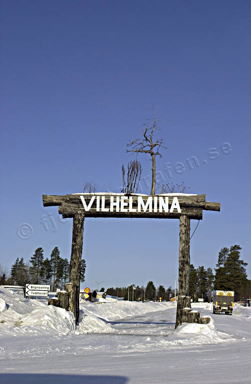 community, Lapland, portal, samhällen, sign, Vilhelmina, welcome