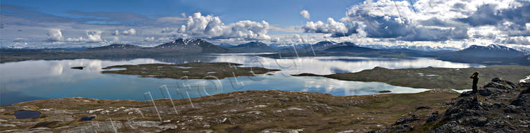 alpine, lake, landscapes, Lapland, mountain, mountains, national park, Padjelanta, Sarek, Sarekfjäll, summer, top, Unna-Tuki, view, Virihaure