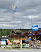 a saami shop, buildings, Herjedalen, Mittådalen, road shop, saami country, saami person, Sapme, warehouse, shop, store