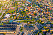 aerial photo, aerial photo, aerial photos, aerial photos, Arboga, church, churches, drone aerial, drönarfoto, evening light, Heliga Trefaldighet, städer, Västmanland