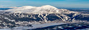 aerial photo, aerial pictures, Areskutan, drone aerial, flygfoton, Jamtland, journeys down, landscapes, mountain top, ski slopes, winter