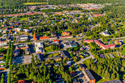 aerial photo, aerial pictures, Arvidsjaur, church, churches, drone aerial, Lapland, samhällen, summer